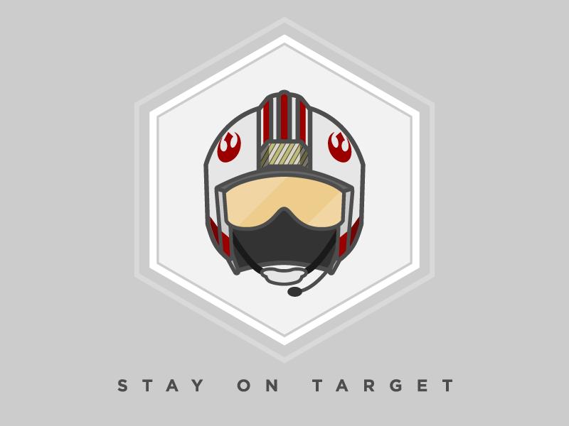Stay On Target rebel han solo skywalker luke jedi star wars
