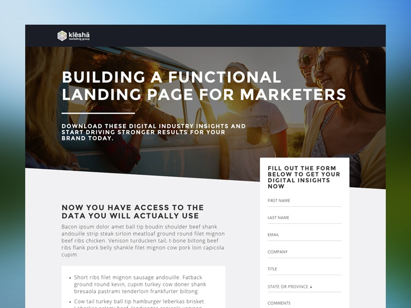 Awesome Landing Page Template html5 html bootstrap form web design animation css3 landing page