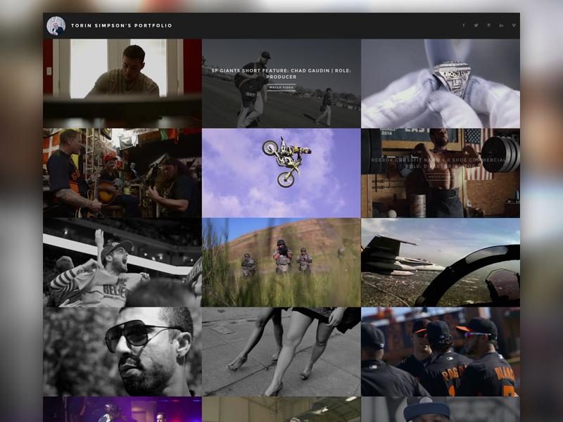 Vimeo Portfolio (API) animate.css web development web design codepen jquery javascript less css3 html5 video portfolio vimeo