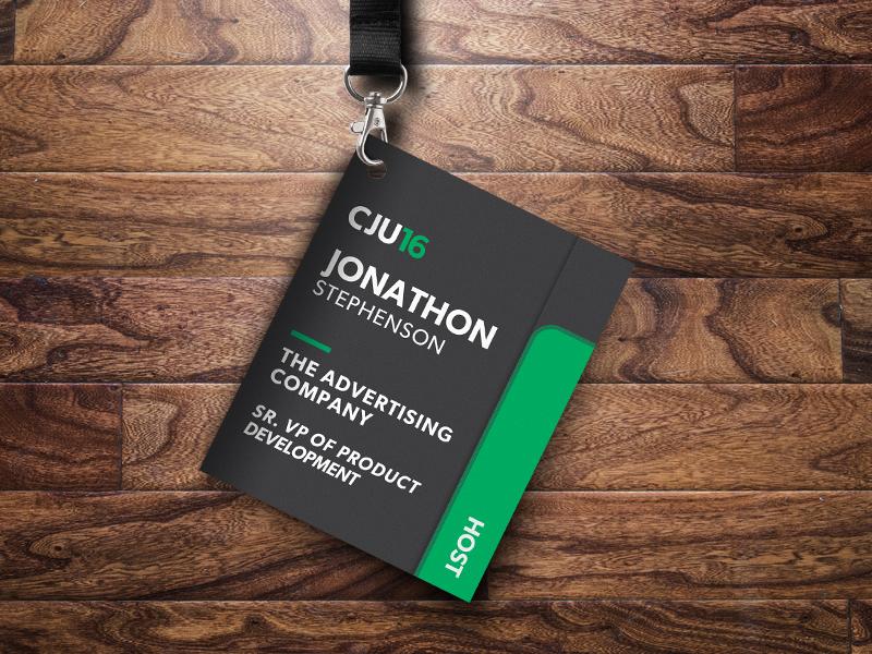 CJ University Event Badge & Booklet clever innovative magnet design affiliate cj university badge event