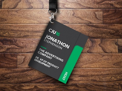 CJ University Event Badge & Booklet