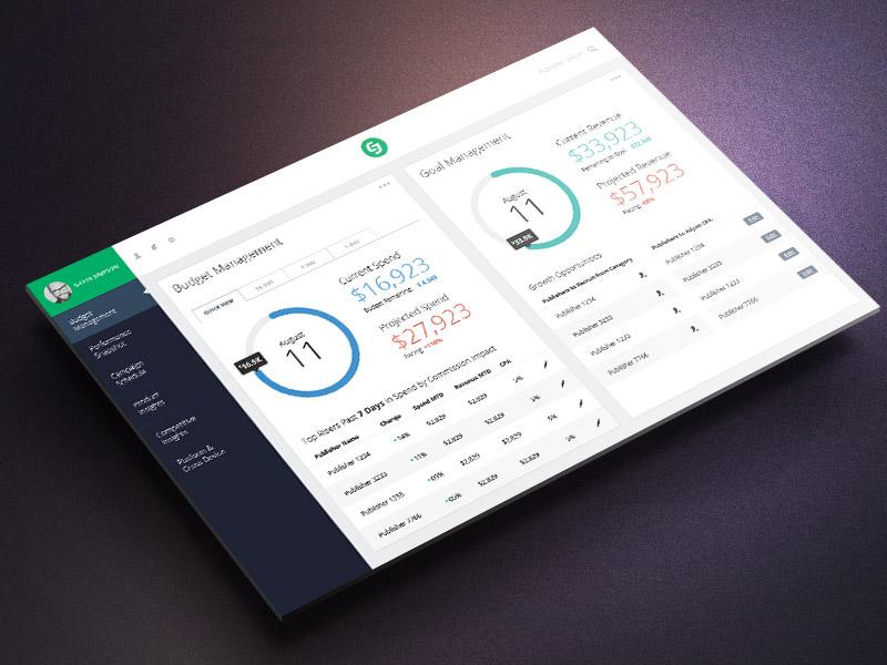 UI Dashboard Mockup user-experience interface dashboard ux ui performance marketing affiliate