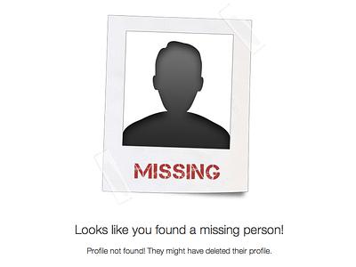 Profile not found 404 profile user not found error