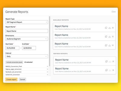 Centro Platform Reports ui platform adtech dsp reports