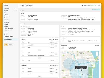 Centro Platform Tactic Summary map adtech dsp ui platform