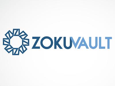 ZokuVault Logo Design safe dial cog security safety logo