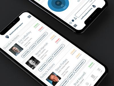 RelationshipNavigator mobile app crm contacts news iphonex