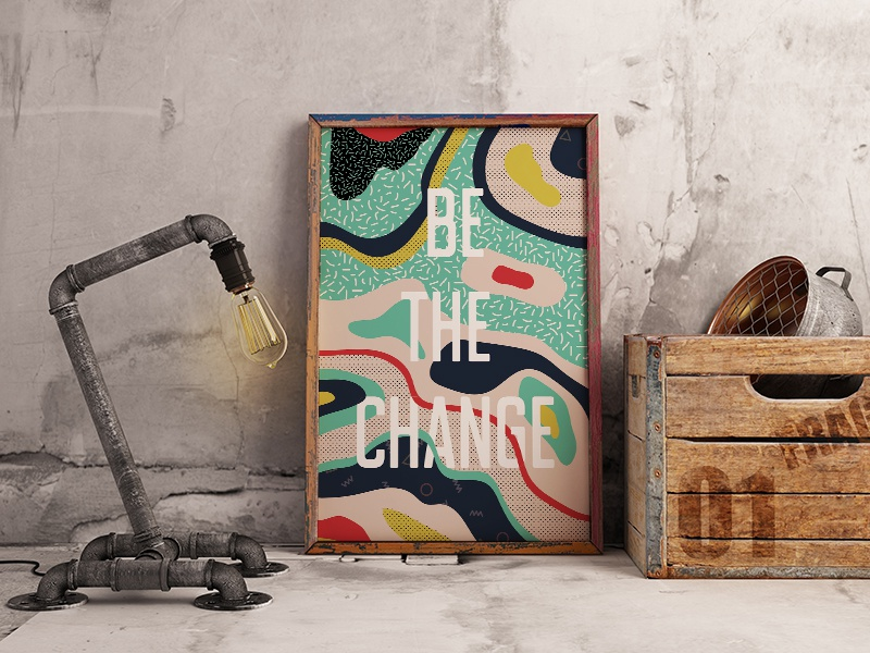 Be The Change poster illustration graphic design