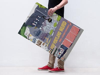 PDX Scribbles by Lindsey Norberg poster vector illustrator design graphic design illustration