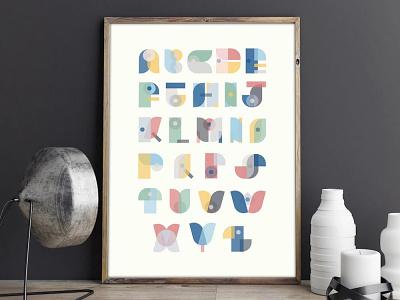 Scandinavian Alphabet typography vector design geometric scandinavian illustrator illustration graphic design
