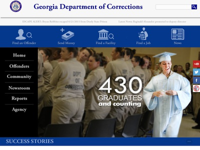 GA Department of Corrections Redesign rebranding css3 html5 government drupal develop design