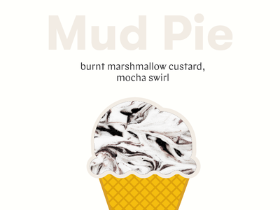 Ice Cream Flavor no.1 mocha marshmallow cone food ice cream