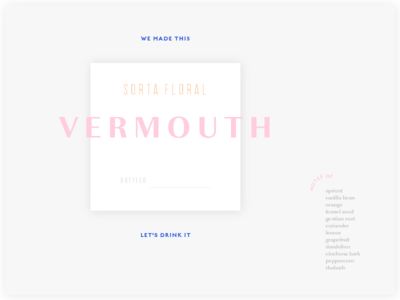 vermouth label type exploration