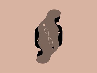 Infinity Hair, Don't Care infinity graveyard illustration branding