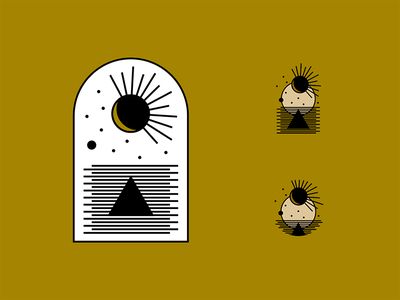 Pretend the triangle is a lobster... tarot brand illustration