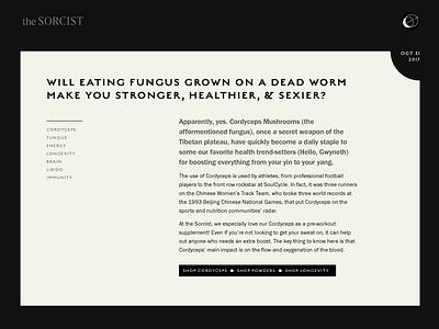The Sorcist typography study branding typography