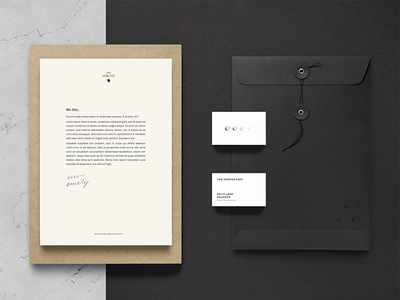 Fancy, Witchy Mail business card envelope logo letterhead typography branding