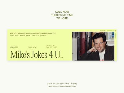 mikesjokes4u typography subway ad branding
