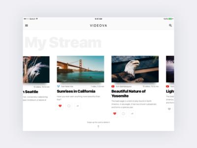 Video app iPad UI