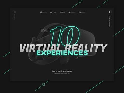 VR Landing ui neon landing virtual reality interface vr