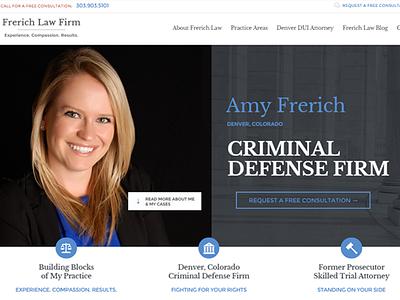 Frerich Law Firm web development web design wordpress