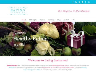 Eating Enchanted web development web design wordpress