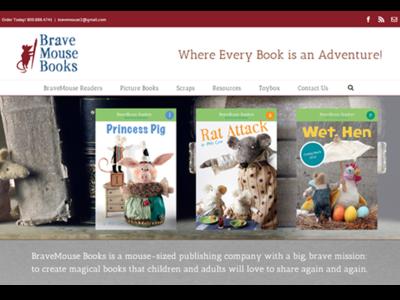 BraveMouse Books web development web design wordpress