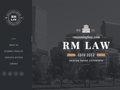R Manning Law web design wordpress