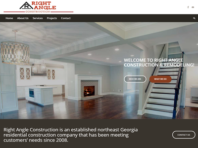 Right Angle Construction web design wordpress
