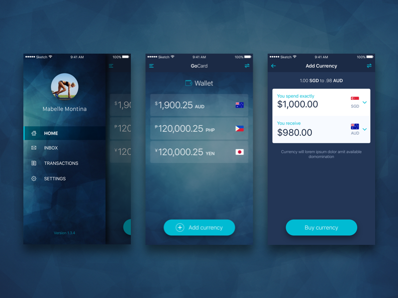 Currency Wallet Ui Design Ios By Mabelle Montina Dribbble Dribbble