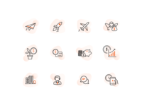 Start up line icons/illustration