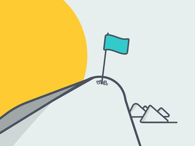 Celebrate successes chatbots ai conversational commerce ecommerce shopify kit flag mountain summit