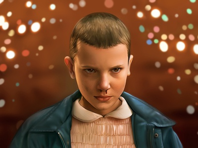 Eleven: Stranger Things 011 painting drawing netflix things stranger eleven