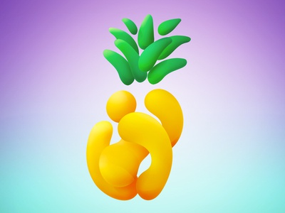 Pineapple Thing blob pineapple abstract