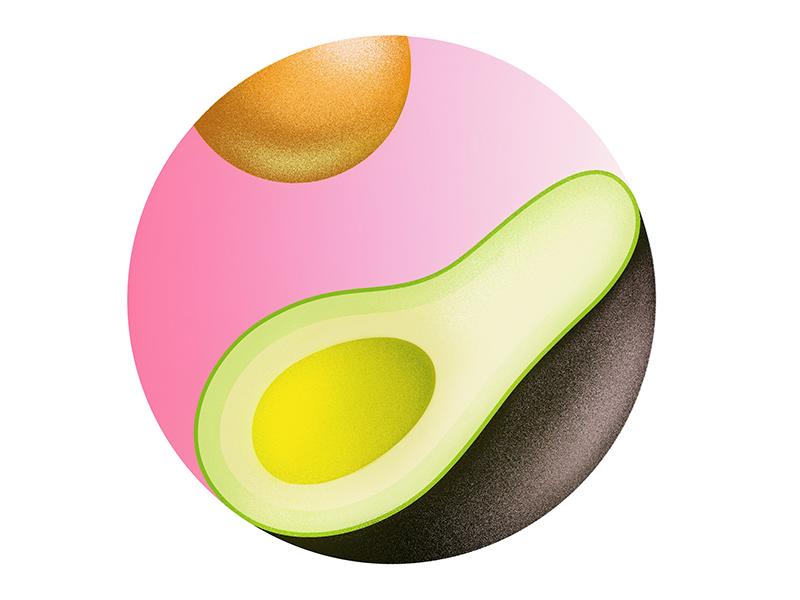 Ying + Yang Avocado light reflected neon disolvs yang ying avocado