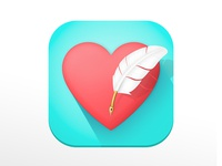 Quill Heart - App Icon