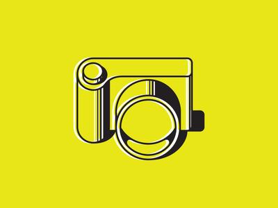 Camera offset illustration icon camera