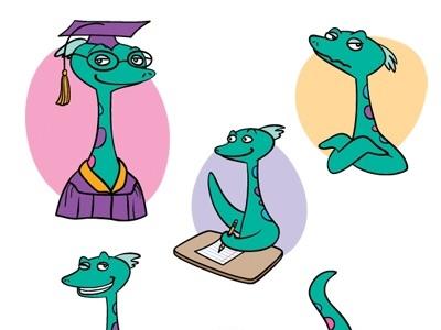 Nessie monster cartoon loch ness monster nessie