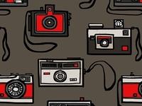 Vintage Cameras Pattern