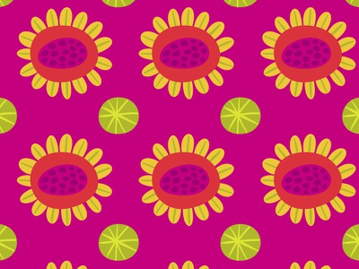 Bright Flowers surface design pattern bright nature floral flowers