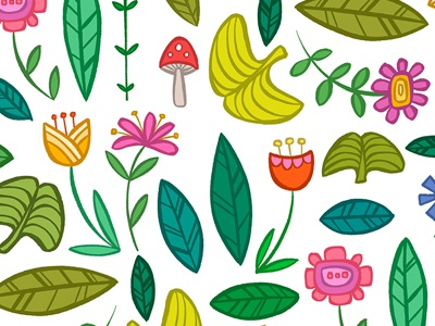 Flower Patch surface design pattern design pattern botanical floral flowers flower
