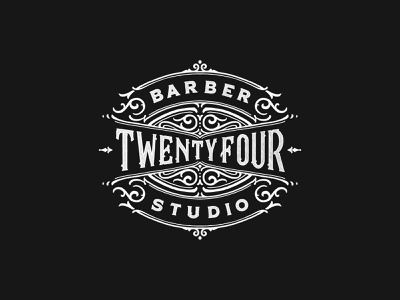24 Barber (Rough Sketch) vintage merch design logo black and white hand lettering calligraphy brand lettering typography