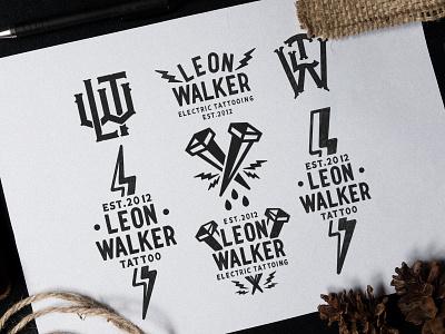 Leon Walker Tattoo sketches custom lettering custom design graphic logotype logo graphic design merchandise design hand lettering brand typography calligraphy lettering