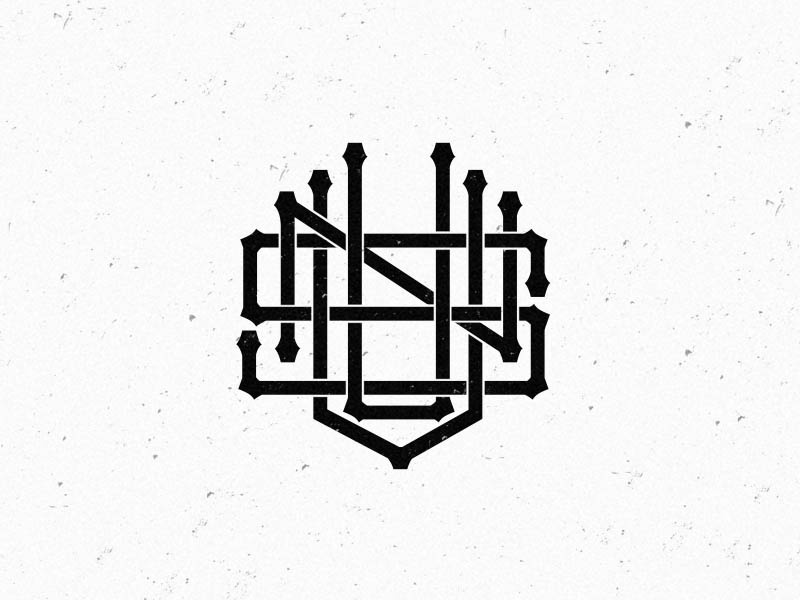 unvis clothes monogram logo by muhammad sidiq nur