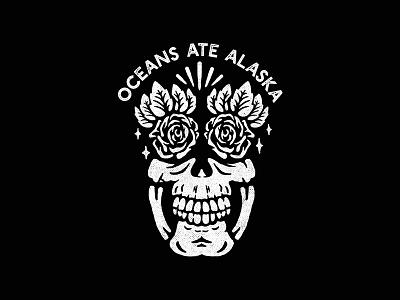 Skulhead 2.0 surfwear rose skull black and white street wear apparel music band design merch