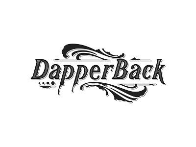 Dapper Back white black vector details lettering typography