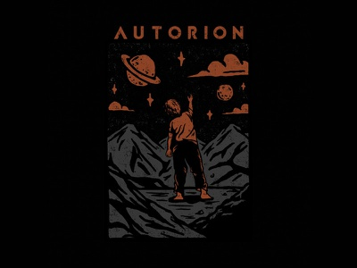 Autorion - Kejarlah pop punk metalcore music band illustration graphic design merch