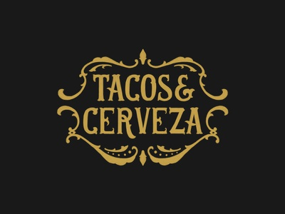 Tacos & Cerveza apparel design logo details hand lettering calligraphy lettering typography