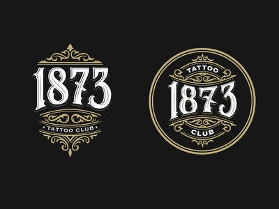 1873 Tattoo Club vintage artwork details logo design graphic tattoo apparel vector hand lettering lettering brand typography