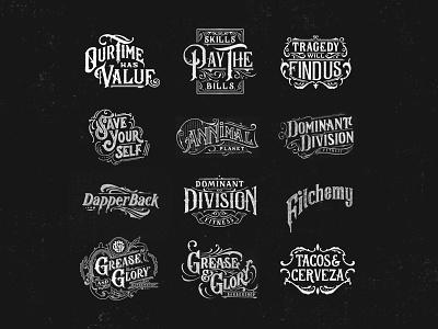 Sketches 2018 - 2019 badge branding design calligraphy logo vintage high details black and white hand lettering lettering brand details typography